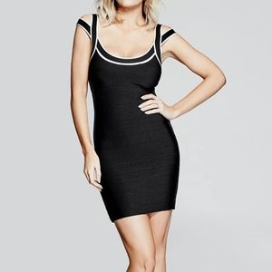 Marciano Black Sexy Fitted Bandage Dress NWT
